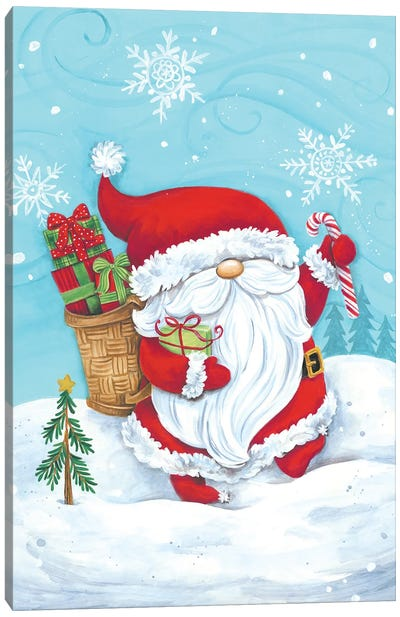 Santa Gnome Canvas Art Print