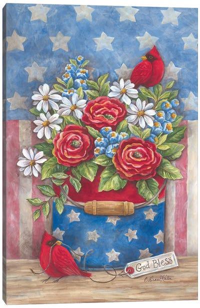 American The Beautiful Canvas Art Print