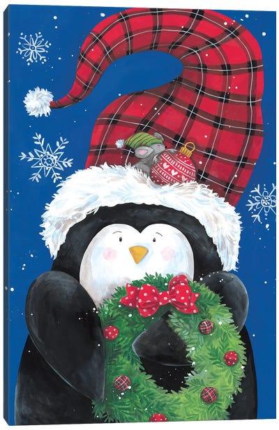 Penguin And Friend Canvas Art Print