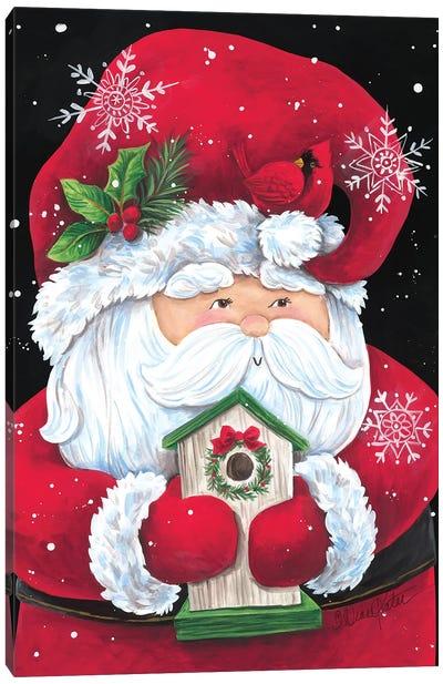 Santa With Birdhouse Canvas Art Print