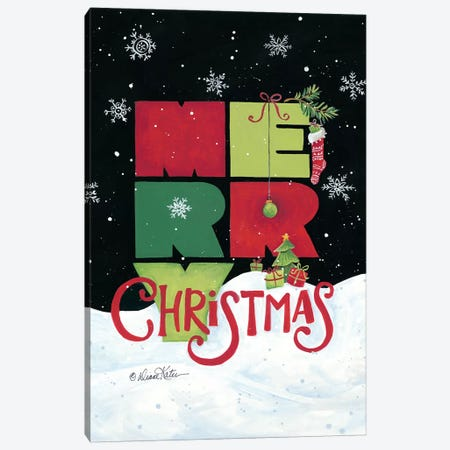 Merry Christmas Canvas Print #DKT4} by Diane Kater Canvas Art Print