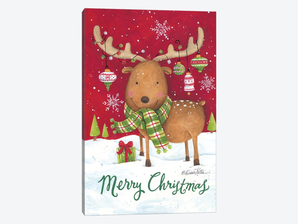 Merry Christmas Reindeer by Diane Kater 1-piece Art Print