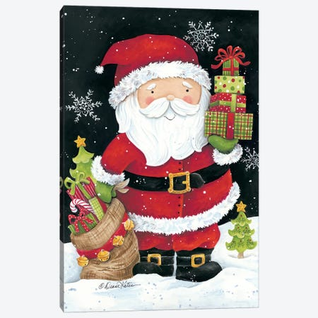 Santa Claus with Presents Canvas Print #DKT7} by Diane Kater Canvas Print