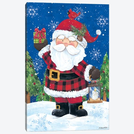 Santa with Lantern Canvas Print #DKT8} by Diane Kater Canvas Artwork