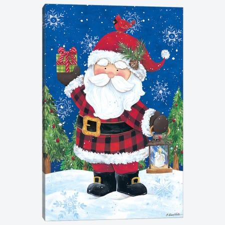 Santa with Lantern Canvas Print #DKT8} by Diane Kater Canvas Artwork