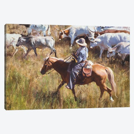 Casual Roundup Canvas Print #DKU17} by David Edward Kucera Canvas Print