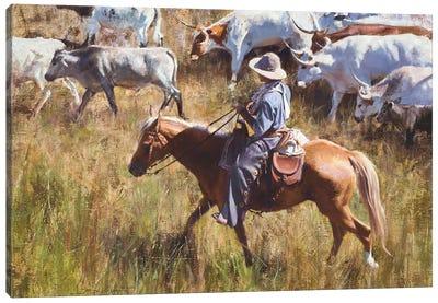 Casual Roundup Canvas Art Print