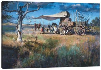 Chuck Wagon Commune Canvas Art Print