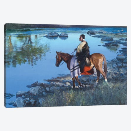 Cool Water Crossing Canvas Print #DKU22} by David Edward Kucera Canvas Art Print