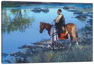 Cool Water Crossing Canvas Art Print