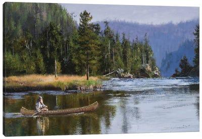 Fast Water Ahead Canvas Art Print