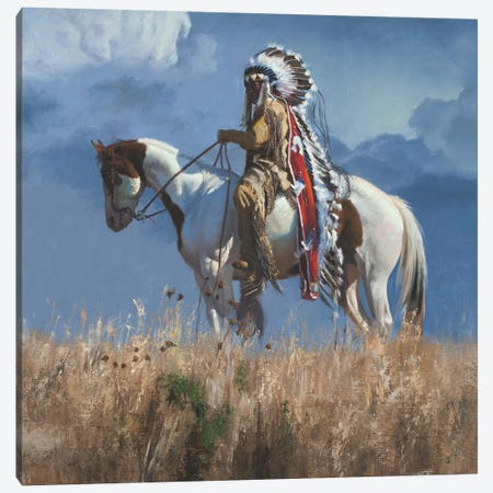 High Atop The Plains Canvas Print #DKU35} by David Edward Kucera Art Print