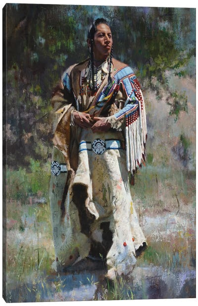 His Stately Attire Canvas Art Print