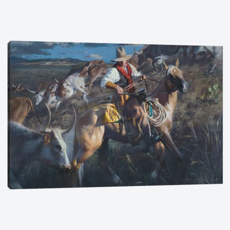 In The Thick Of It Canvas Print #DKU39} by David Edward Kucera Canvas Wall Art