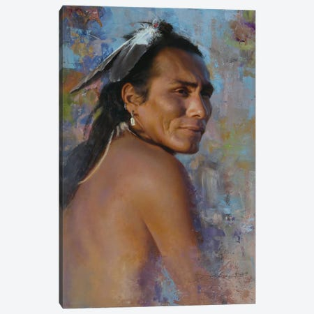 Looking Back Canvas Print #DKU44} by David Edward Kucera Canvas Art