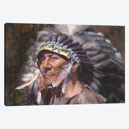 Many Feathers Canvas Print #DKU45} by David Edward Kucera Canvas Artwork