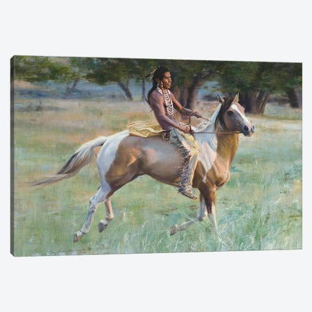 New Pony Canvas Print #DKU49} by David Edward Kucera Art Print
