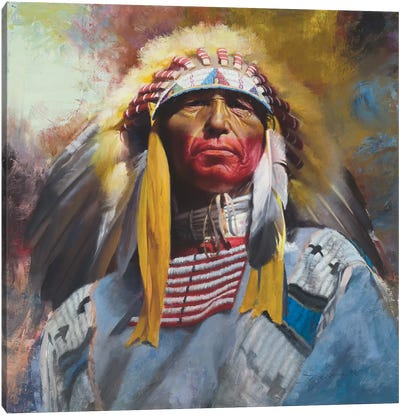 One Chief Canvas Art Print