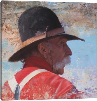 A Wranglers' Shade Canvas Art Print