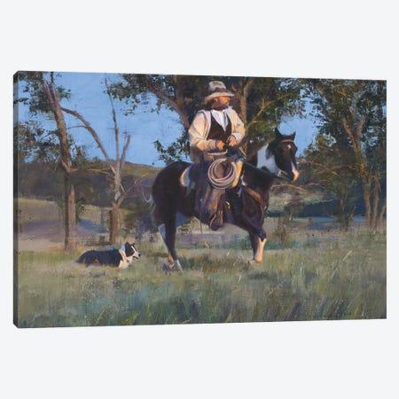 Side Kick Canvas Print #DKU69} by David Edward Kucera Canvas Art Print