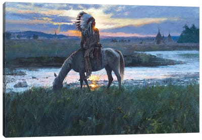 Summer Camp Sunrise Canvas Art Print