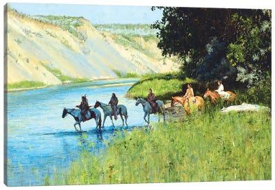 Across the Little Bighorn Canvas Art Print