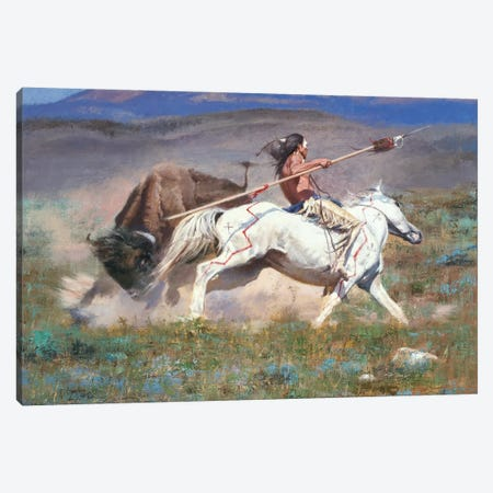 The Duel Canvas Print #DKU80} by David Edward Kucera Canvas Art Print