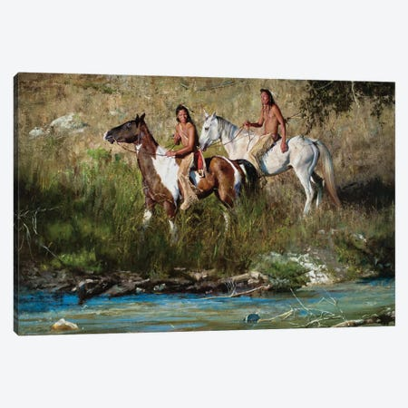 The River Keeps No Secrets Canvas Print #DKU84} by David Edward Kucera Canvas Wall Art