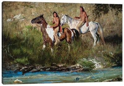 The River Keeps No Secrets Canvas Art Print