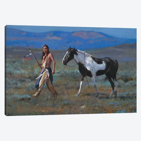 Walking The Paint Canvas Print #DKU87} by David Edward Kucera Canvas Wall Art