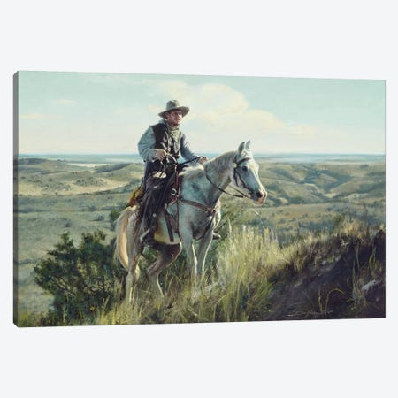 Wrangler Ascending Canvas Print #DKU91} by David Edward Kucera Canvas Artwork