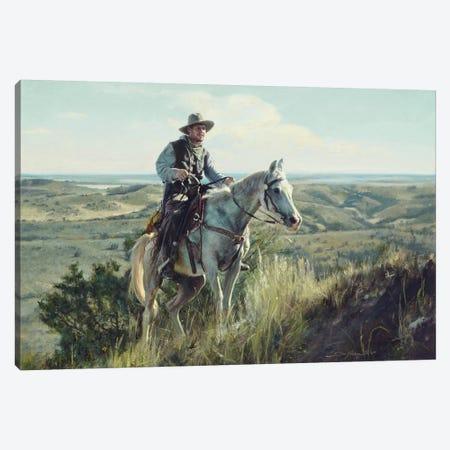 Wrangler Ascending Canvas Print #DKU91} by David Edward Kucera Canvas Artwork