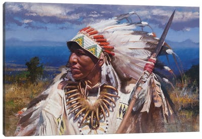Lance And Regalia Canvas Art Print
