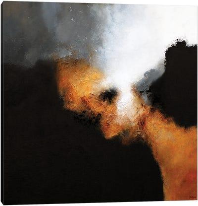 Gold & Black V Canvas Art Print