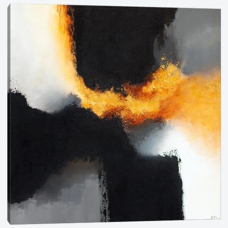 Gold & Black X Canvas Print #DKZ16} by Daniel Kozeletckiy Canvas Art
