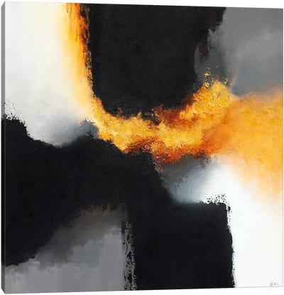 Gold & Black X Canvas Art Print