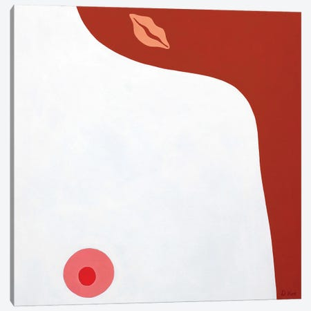 Mysterious Lips Canvas Print #DKZ20} by Daniel Kozeletckiy Canvas Art
