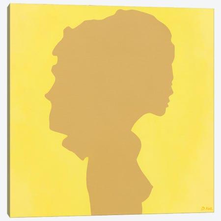 Shadow Of A Young Girl On Yellow Canvas Print #DKZ23} by Daniel Kozeletckiy Canvas Wall Art