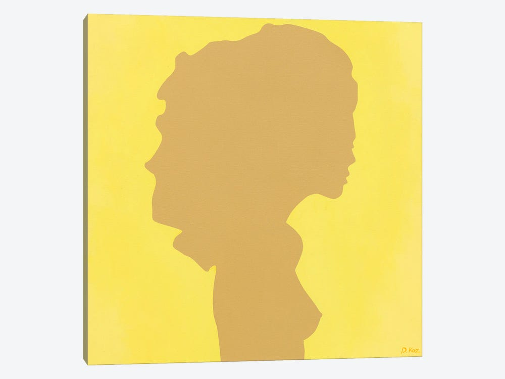Shadow Of A Young Girl On Yellow by Daniel Kozeletckiy 1-piece Canvas Art