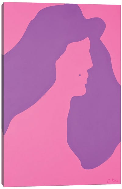 Silhouette With A Mole Canvas Art Print