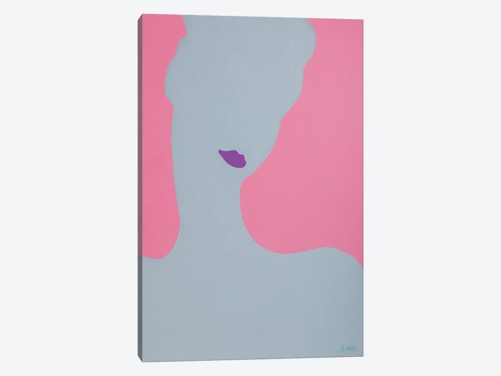 Young Lady With Violet Lips by Daniel Kozeletckiy 1-piece Canvas Artwork