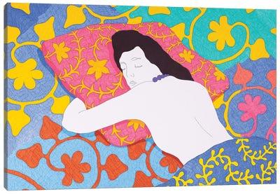 Sleeping On A Pillow Canvas Art Print