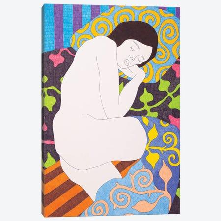Sleeping On The Black Canvas Print #DKZ38} by Daniel Kozeletckiy Canvas Art Print