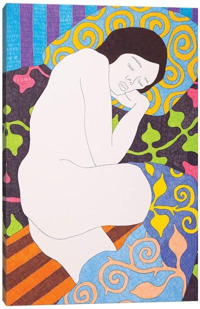 Sleeping On The Black Canvas Art Print