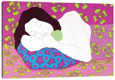 Sleeping On The Bright Canvas Art Print