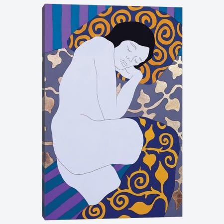 Sleeping On The Gray Canvas Print #DKZ40} by Daniel Kozeletckiy Canvas Wall Art
