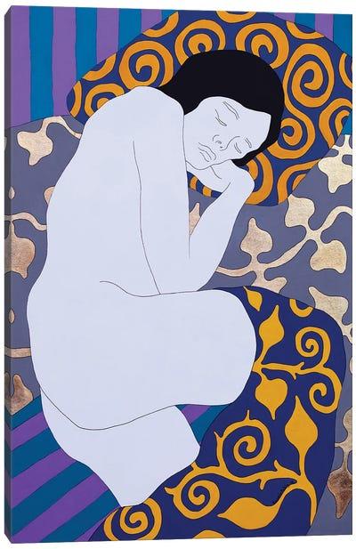 Sleeping On The Gray Canvas Art Print