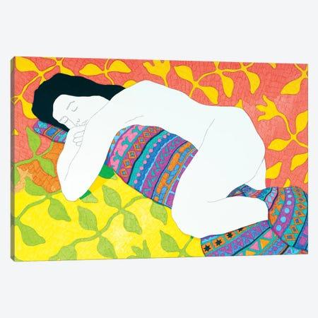 Sleeping With A Blanket Canvas Print #DKZ42} by Daniel Kozeletckiy Canvas Artwork