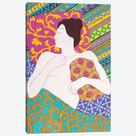 Sleeping With A Pillow Canvas Print #DKZ44} by Daniel Kozeletckiy Canvas Print