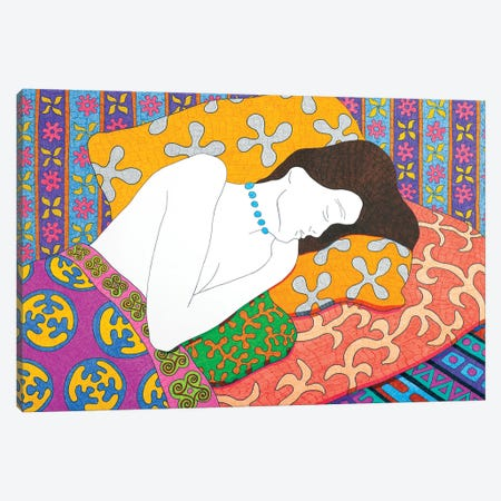 Sleeping With Beads Canvas Print #DKZ45} by Daniel Kozeletckiy Art Print